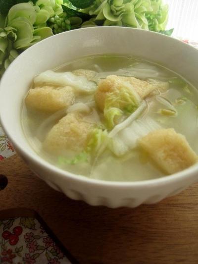 簡単★白菜ともやしの創味シャンタンスープ
