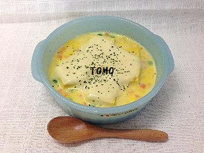 レンジで簡単!高野豆腐グラタン