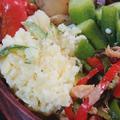 魚肉ソーセージ弁当とスパゲティ