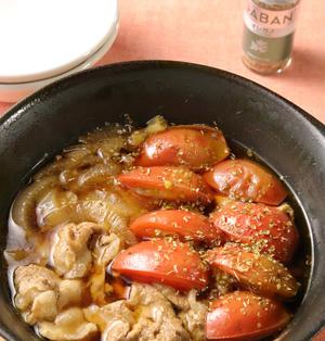 【レシピ】オレガノde洋風トマトすき焼き