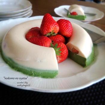 苺と抹茶のゼリー・定番色々。