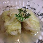 白ワインとバターのシンプルロールキャベツ