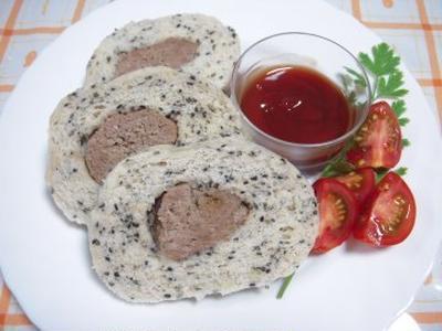 スチームローター 「肉&黒胡麻パン」