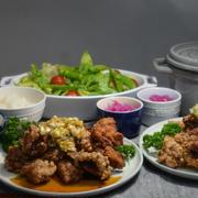 ストウブで「揚げ鶏の葱ソース」