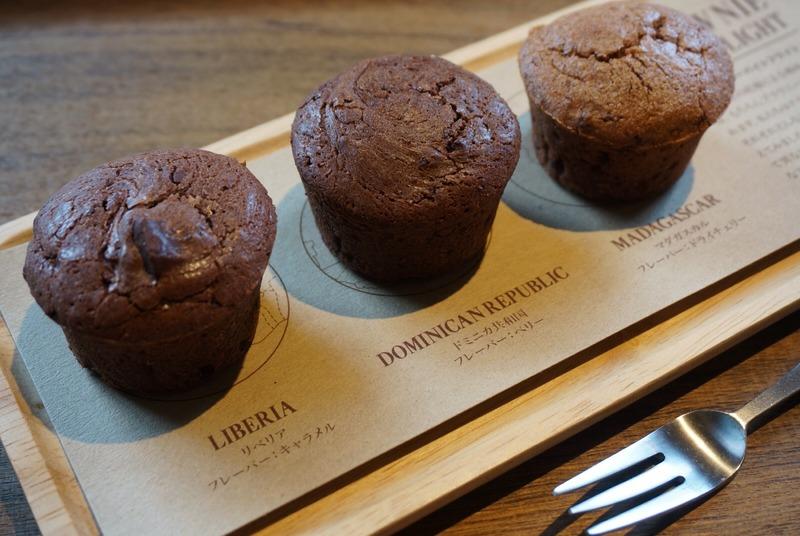■「ブラウニーバイトフライト」630円(税抜)<br>チョコレートの原産地が異なる3種のブラウニー。...