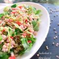 そばの実と三つ葉の紅生姜サラダ