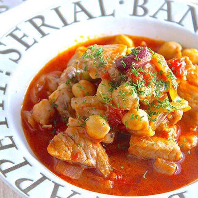 グビッ!スープも最後まで飲み干せちゃう♪『豚とお豆さんの旨味凝縮♡トマト煮込み』《簡単*節約》