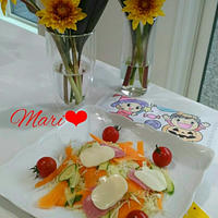 《レシピ有》ハロウィンチックなサラダ、幼稚園遠足&抽象力、食事の記録10/17。