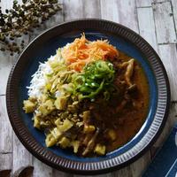 炒めるだけ♡本格エスニック|カレーの付け合わせにも♪|インド風炒め サブジのスパイスミックスを使って見た|【レンコンとひき肉のサブジ】