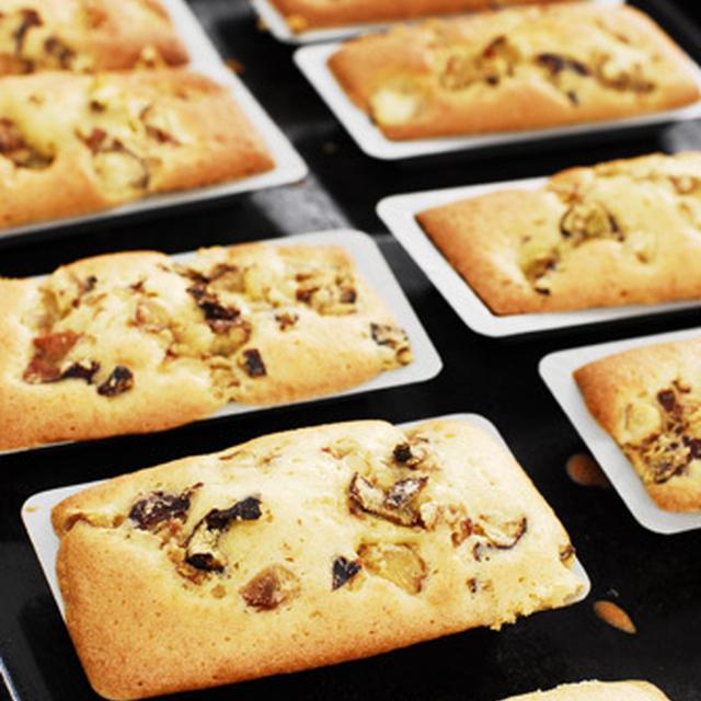 黒糖焼酎香る島ざらめと自家製栗の渋皮煮のケーキ