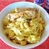 鶏スペアリブとキャベツと大豆のクリーム煮込み