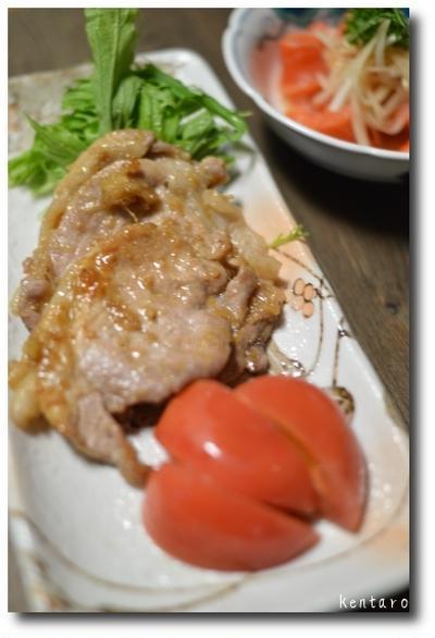 醤油麹で豚の生姜焼き
