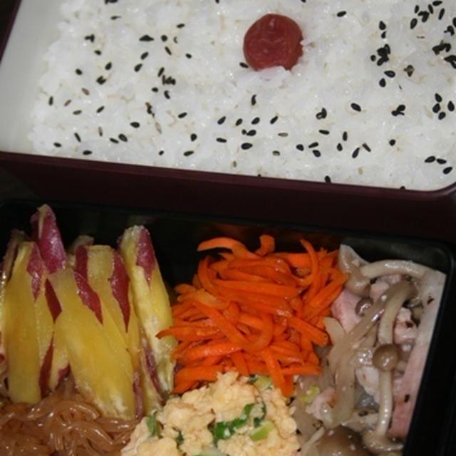 8月13日  ベーコンと しめじの炒めもの弁当(練習)
