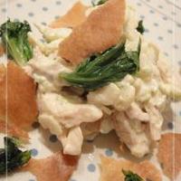 焼きカレーと鶏ムネ肉とセロリのサラダ