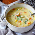 野菜たっぷり♪甘くておいしい【コーンクリームチャウダー】#クリスマス #スープ