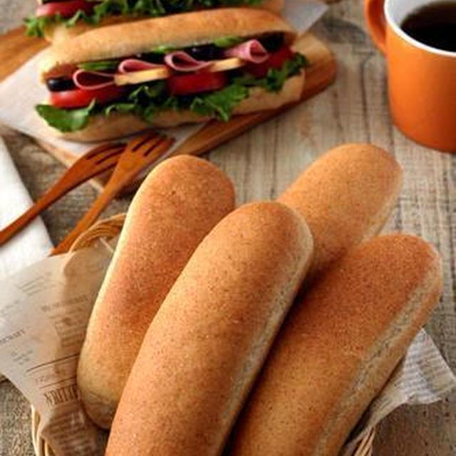 【レシピ】「サンドイッチに!小麦胚芽入りのコッペパン」