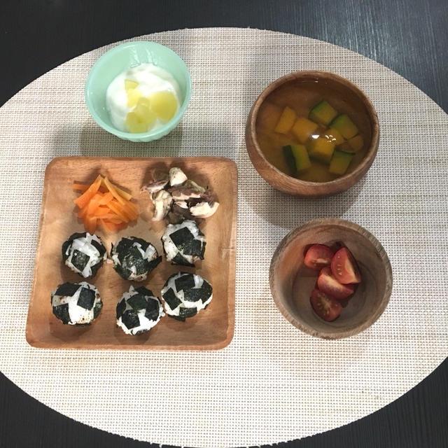 【幼児食】焼き鯖カレー味【パパ弁当】人参といんげんの肉巻き