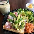 【エッグベネディクト風】アスパラのタルタルサラダのオープンサンドレシピ