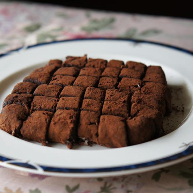 チョコレート・生クリなしで作る 生チョコ レシピ