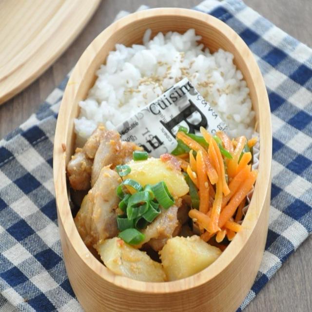 【お弁当おかずレシピ】鶏肉とじゃがいものガーリックみそ炒め
