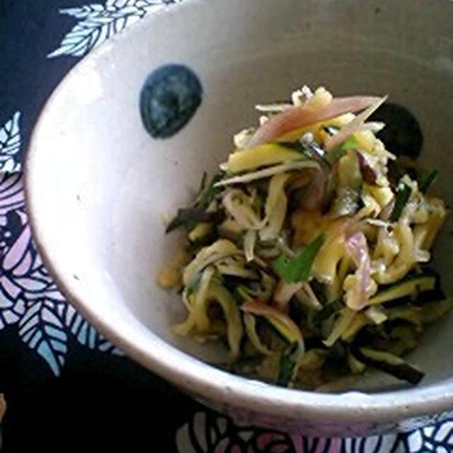 夏野菜の生姜酢和え