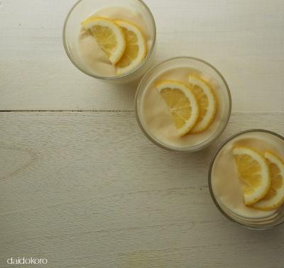わらび餅粉で作る レモンプリン