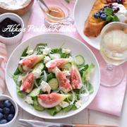 【おもてなし】フィグとモッツァレラチーズのヴィネグレットサラダ 年に2回イチジクが旬の季節に♪