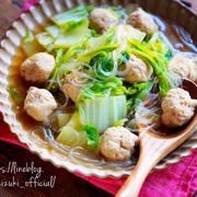 ♡鶏団子と白菜の春雨スープ煮♡【#簡単レシピ#時短#ひき肉#鍋】