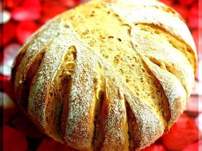 >捏ねないパン! 小麦胚芽と白胡麻のカンパーニュ by PACOさん