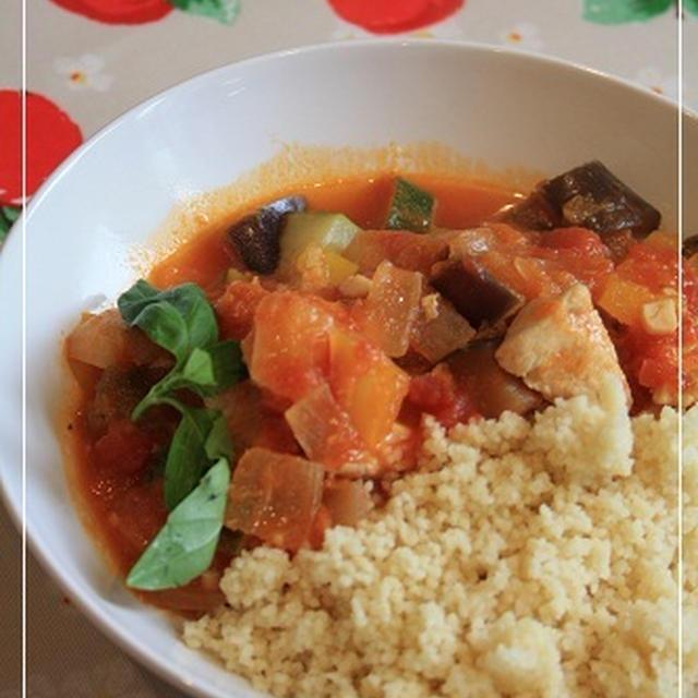 夏野菜の即席トマト煮込み