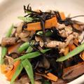 豚肉とひじきの塩麹炒め。 by ゆりぽむさん
