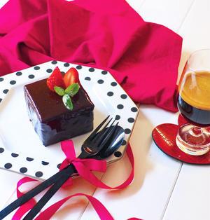 マシュマロでチョコムースケーキ〜牛乳パックの型でプチガトー風