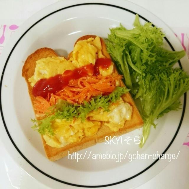 【カラフル朝ごはん】自然の色でカラフルトースト