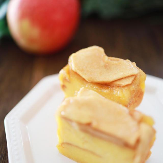 りんごカラメルのパンプディング☆簡単ふわっと優しい味、しっかりとした焼き上がり♪