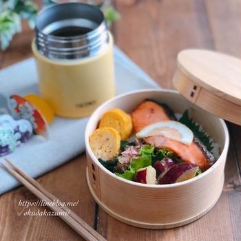 焼き鮭とスープジャーのお弁当【本日のお弁当】*ESSE撮影でした