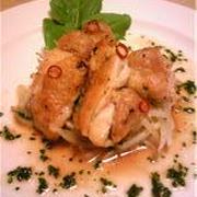 鶏もも肉のソテーイタリアンなもやしと♪