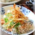 パリパリごぼうが香ばしい鮭ごはん【見直しレシピ】