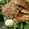 まさに新食感。サラダ菜で包むオクラ鶏つくねの野菜は最高。(糖質制限3.95g)