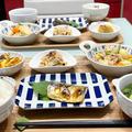 【献立】味噌バター肉じゃが/出汁巻かない玉子/切り干し大根煮物/茄子の胡麻味噌和え/鯖の塩焼き