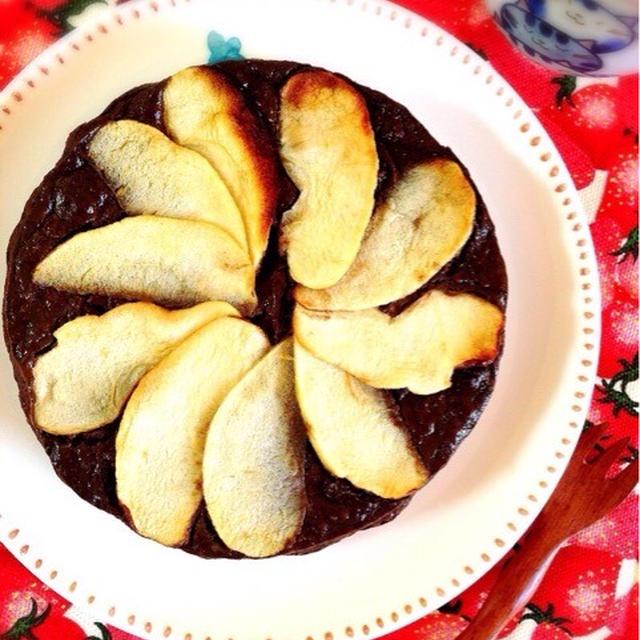 豆乳ヨーグルトでお砂糖なしのチョコレートケーキ。