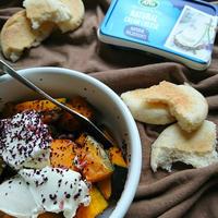 お弁当にも〜焼きかぼちゃのゆかりクリチソース(作りおき)〜アーラナチュラルクリームチーズ使用〜