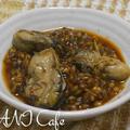 牡蠣のもち麦雑炊