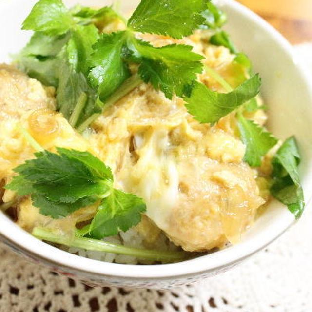 鶏団子で親子丼 レシピ