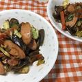 献立12-7・手軽で安い魚肉ソーセージで回鍋肉