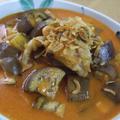 野菜ジュース☆鶏肉と茄子のトマトクリーム