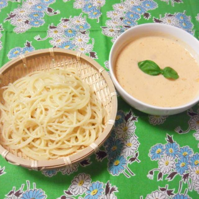 トマトヨーグルトスープのつけ麺風フェデリーニ