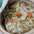 信州蔵出し味噌仕立ての手作りほうとう鍋
