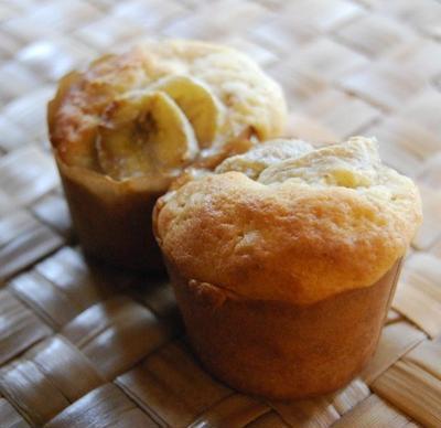 ヨーグルトとバナナのマフィン(新しょうが入り)
