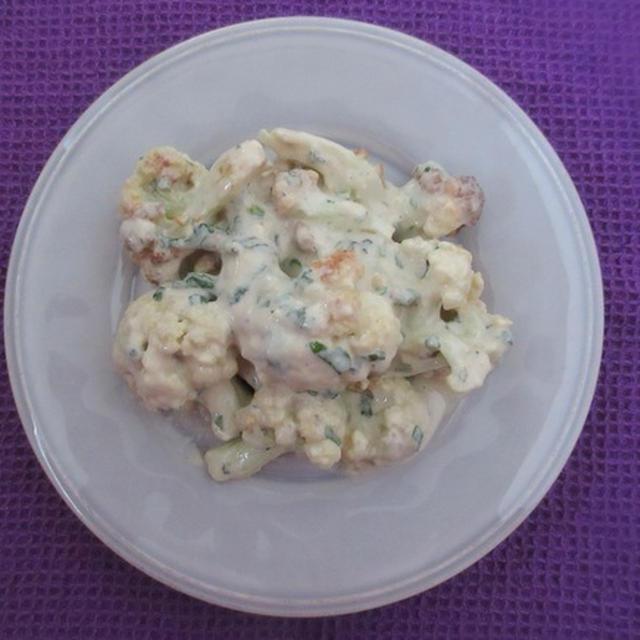 <イギリス・レシピ> カリフラワーのゴマソース和え【Fried Cauliflower with Sesame Sauce】1