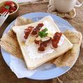 冬の味覚を使った簡単・美味しいレシピ♪干し柿のオープンサンド♡